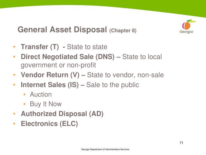General Asset Disposal
