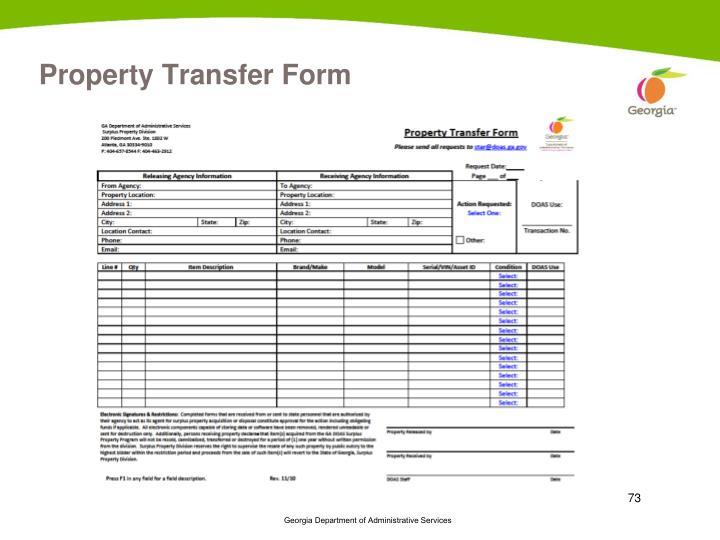 Property Transfer Form