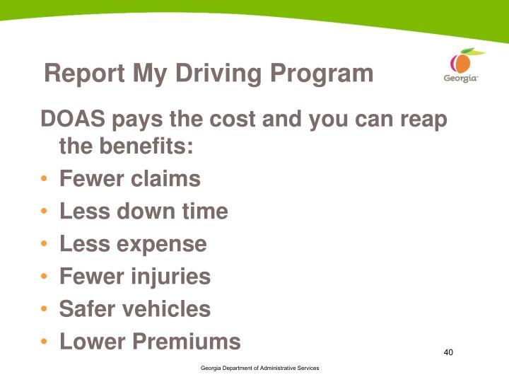 Report My Driving Program