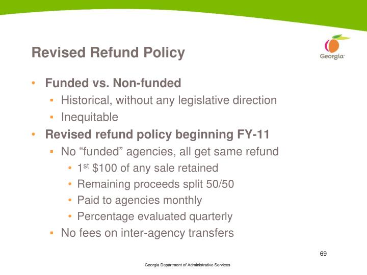 Revised Refund Policy