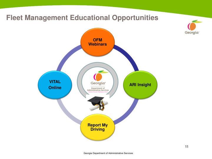 Fleet Management Educational Opportunities