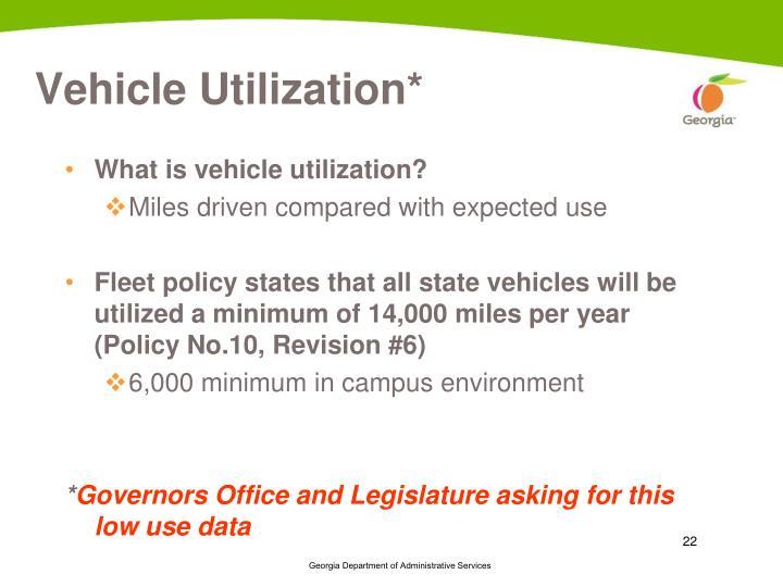 Vehicle Utilization*