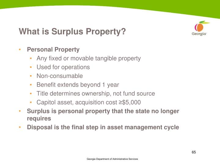 What is Surplus Property?