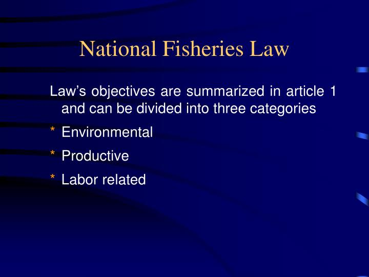 National Fisheries Law