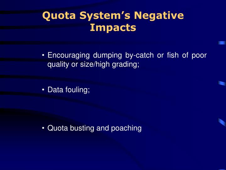 Quota System's Negative Impacts