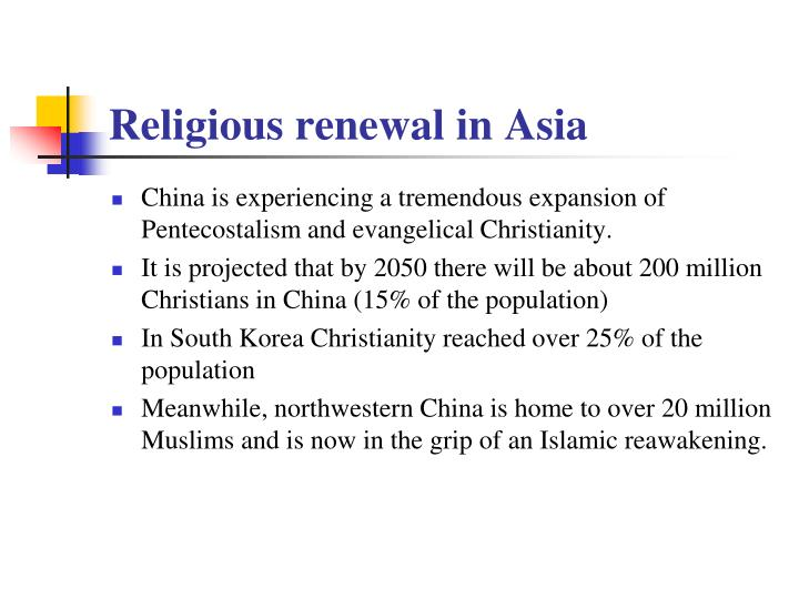 Religious renewal in Asia