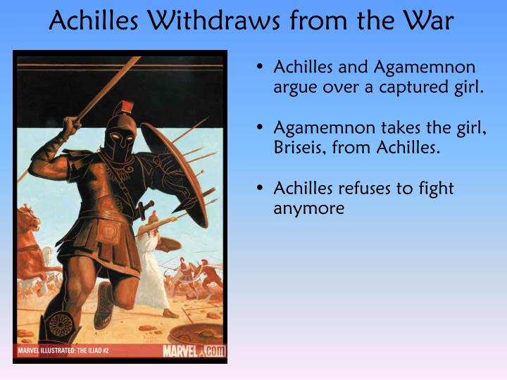 Achilles Withdraws from the War