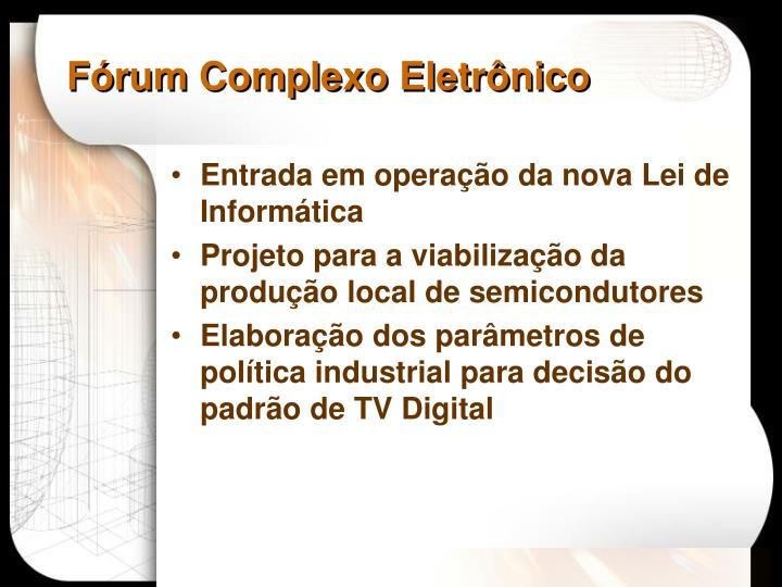 Fórum Complexo Eletrônico