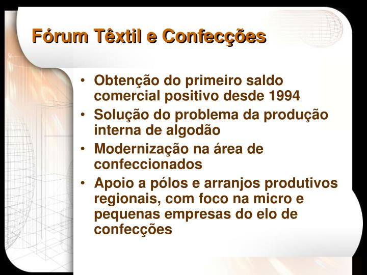 Fórum Têxtil e Confecções