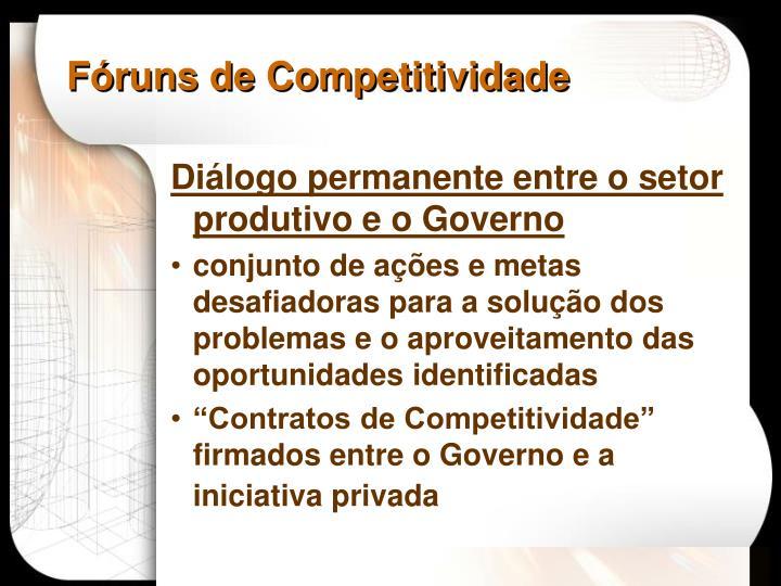 Fóruns de Competitividade