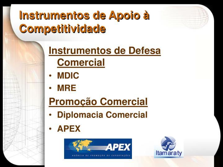 Instrumentos de Apoio à Competitividade