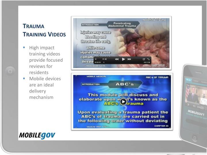 Trauma Training Videos