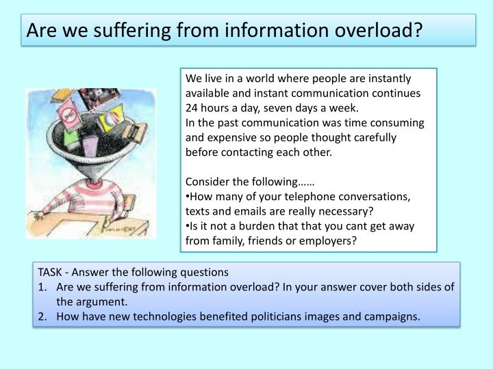 Are we suffering from information overload?