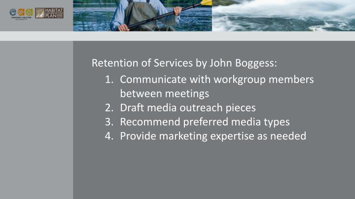 Retention of Services by John