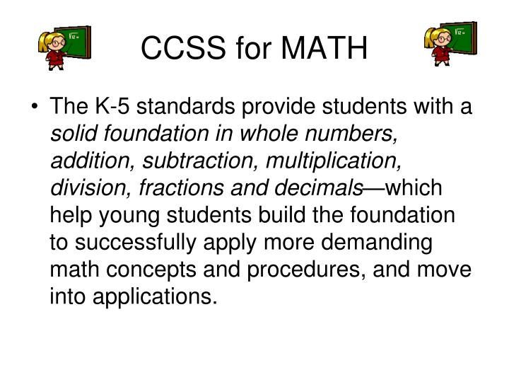 CCSS for MATH