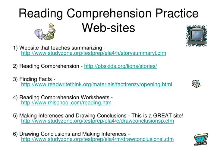 Reading Comprehension Practice Web-sites