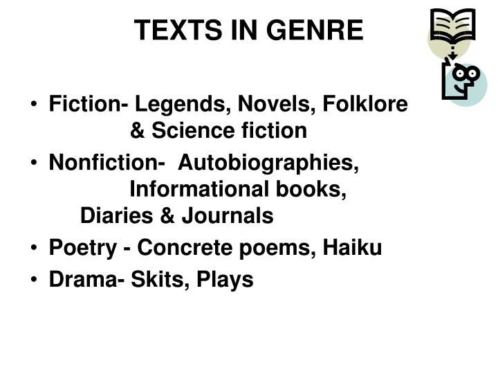 TEXTS IN GENRE
