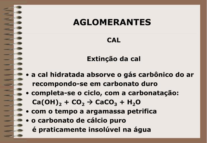 AGLOMERANTES
