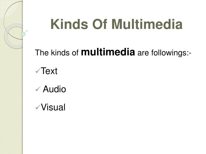 Kinds Of Multimedia