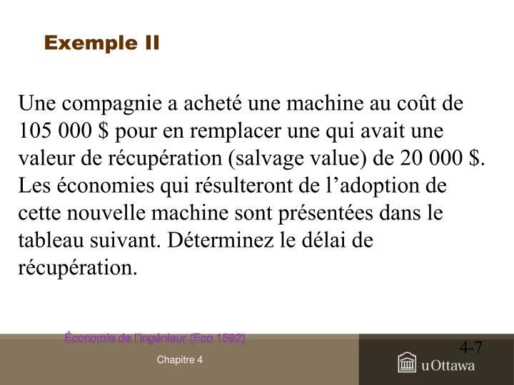 Exemple II
