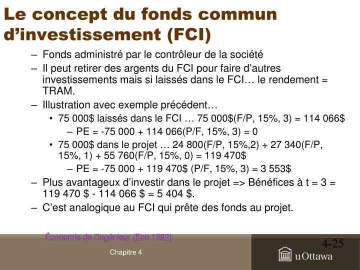 Le concept du fonds commun d'investissement (FCI)