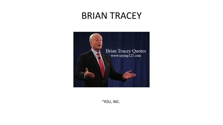 BRIAN TRACEY