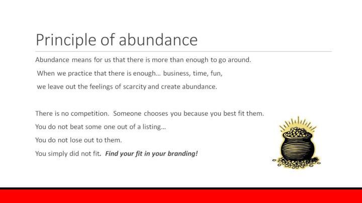 Principle of abundance
