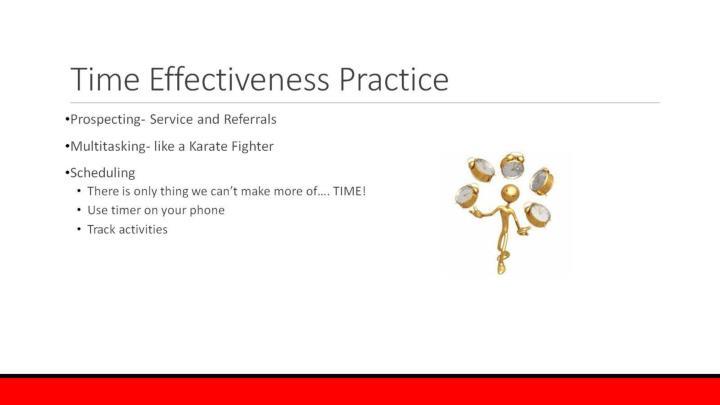 Time Effectiveness Practice