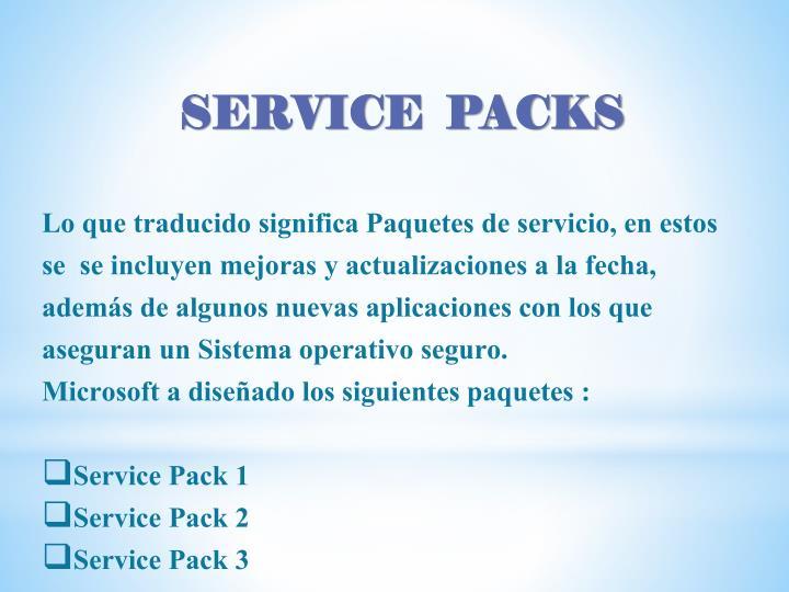 Lo que traducido significa Paquetes