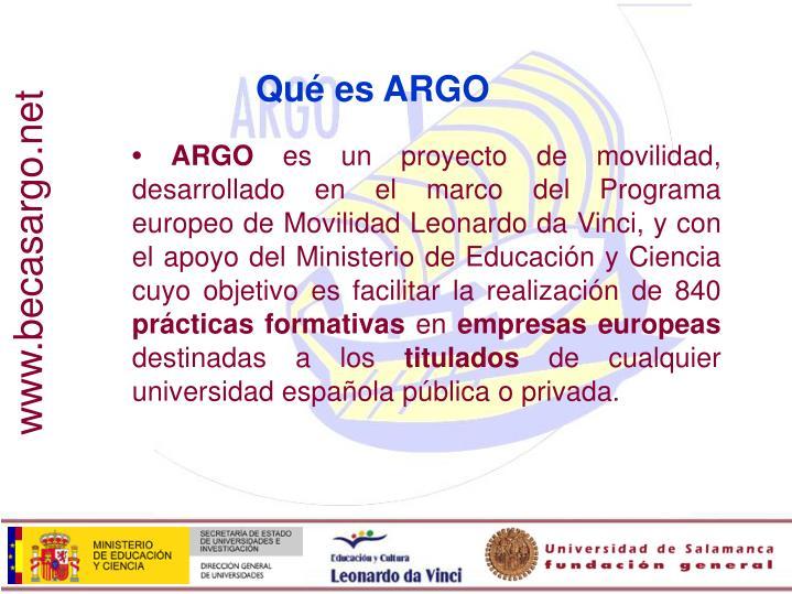 Qué es ARGO