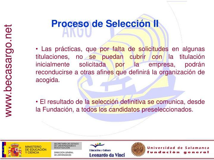 Proceso de Selección II