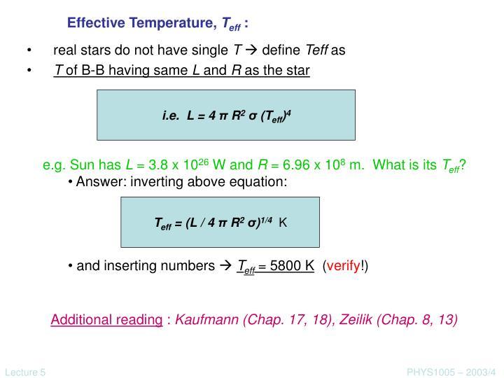 Effective Temperature,
