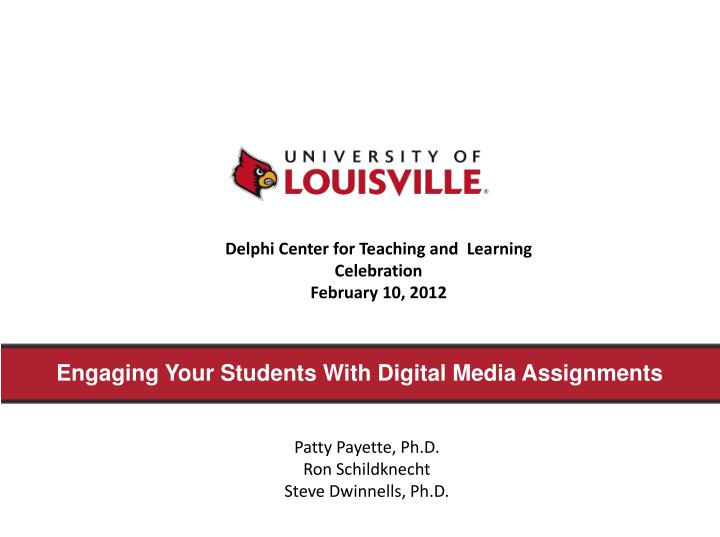 engaging your students with digital media assignments