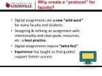 why create a protocol for faculty