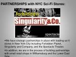 partnerships with nyc sci fi stores