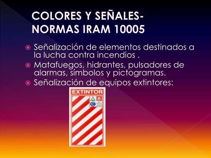 COLORES Y SEÑALES-