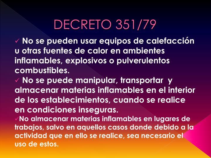 DECRETO 351/79