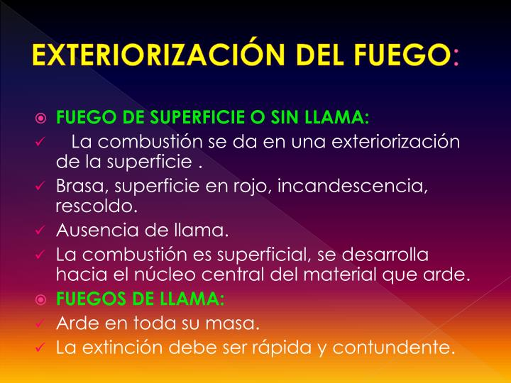 EXTERIORIZACIÓN DEL FUEGO