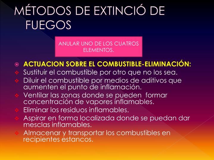 MÉTODOS DE EXTINCIÓ DE FUEGOS