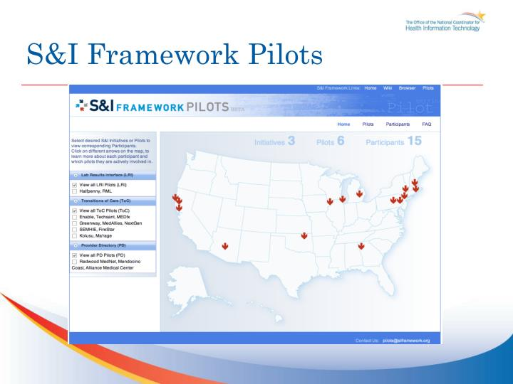 S&I Framework Pilots