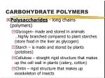 carbohydrate polymers1