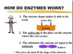 how do enzymes work