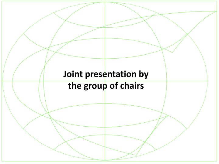 Joint presentation by