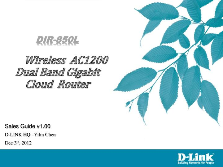 Dir 850l wireless ac1200 dual band gigabit cloud router