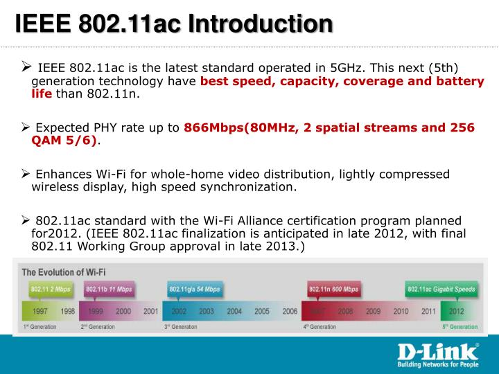 IEEE 802.11ac Introduction