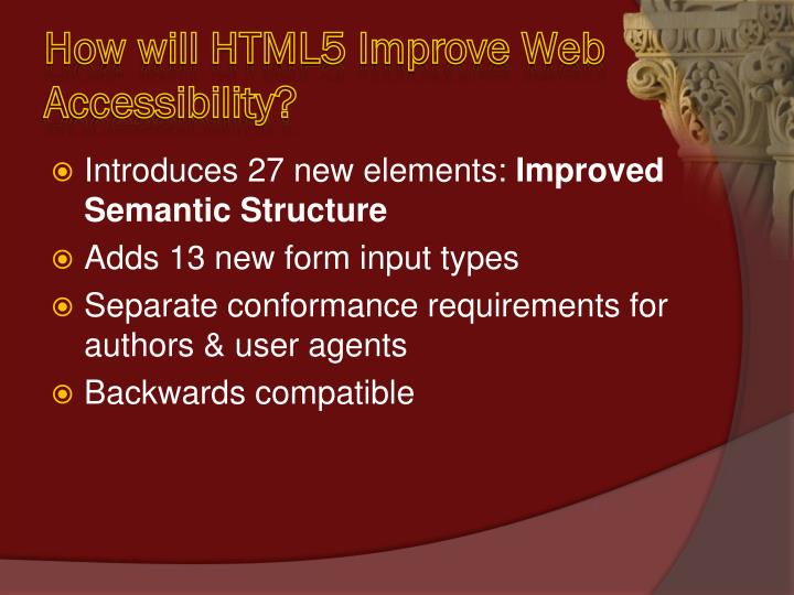 How will HTML5 Improve Web Accessibility?
