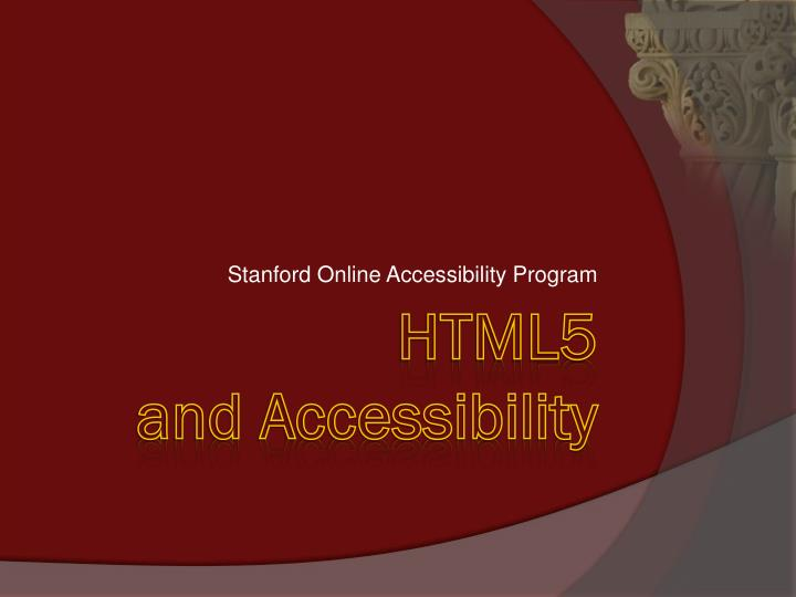 Stanford Online Accessibility Program