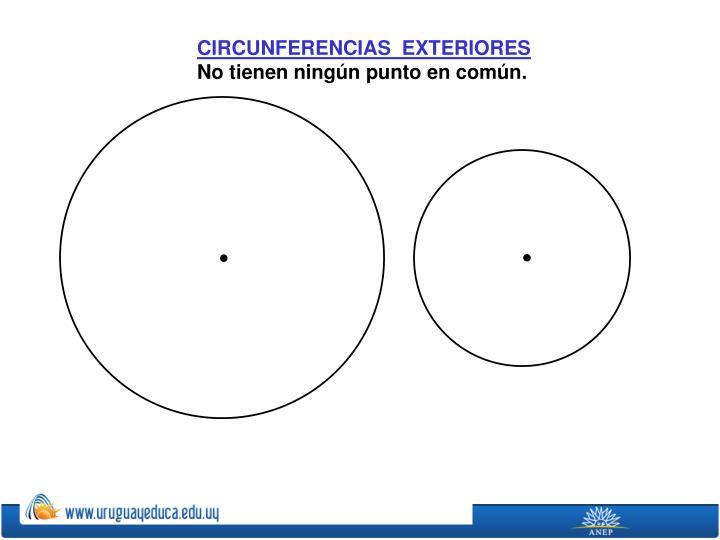 CIRCUNFERENCIAS  EXTERIORES