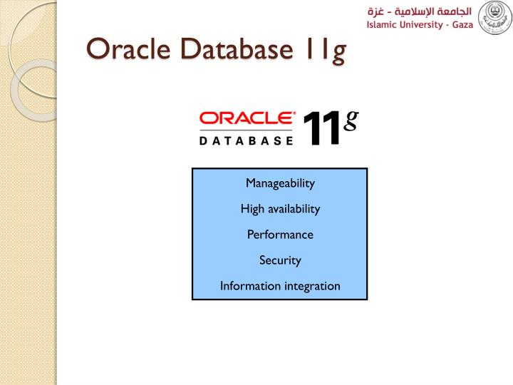 Oracle Database 11