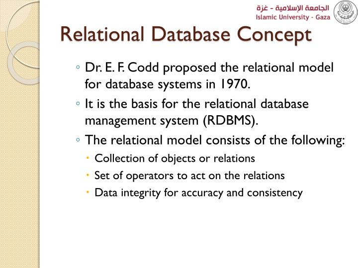 Relational Database Concept